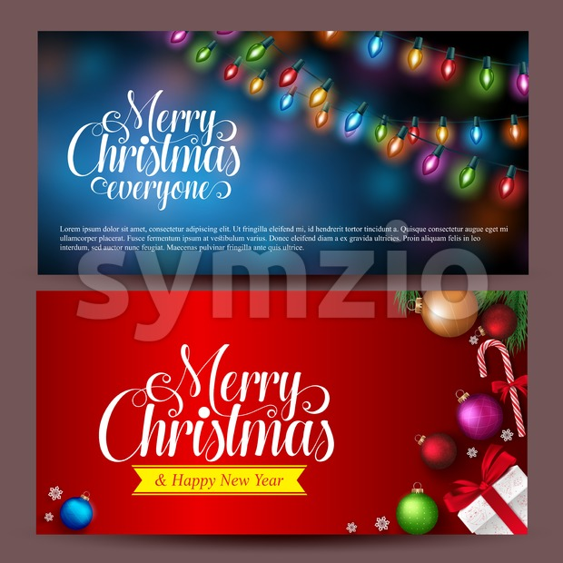 Christmas Banners Design Greetings Card Background Stock Vector