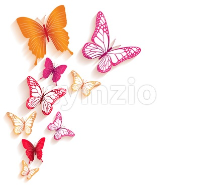 Vector Colorful Butterfly Background Stock Vector