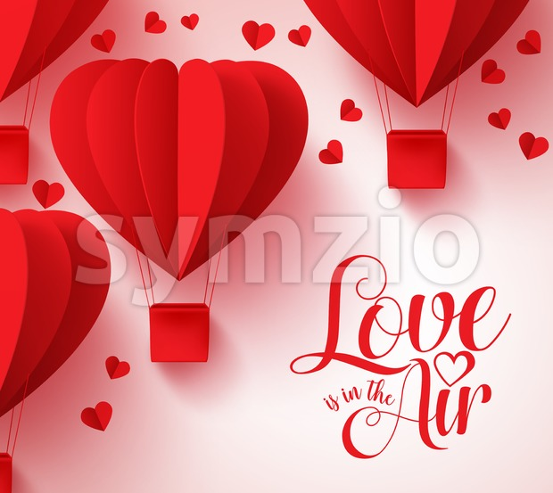 Love is in the Air Typography for Valentines Day Stock Vector