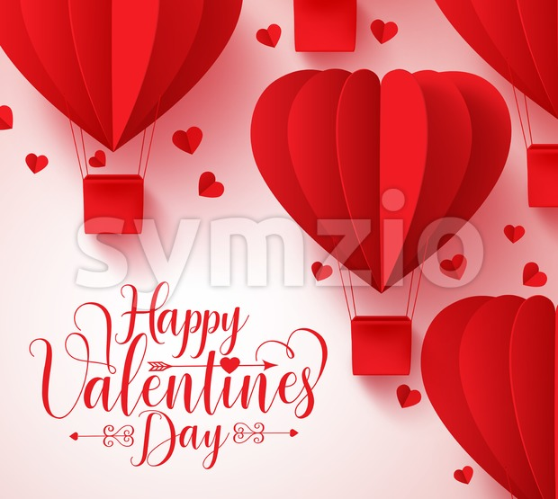 Happy Valentines Day Typography Vector Design Stock Vector