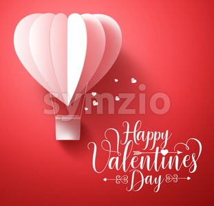 Happy Valentines Day Vector Greetings Card Design Stock Vector