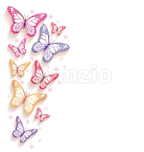 Colorful Butterflies Vector Background Stock Vector