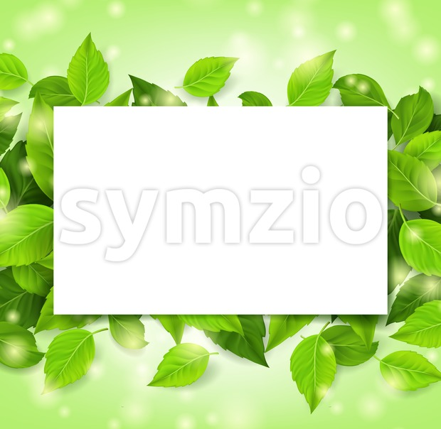 Spring Leaves Background Vector Design Stock Vector