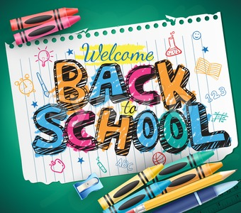 Back to School Written in a Piece of Paper Stock Vector