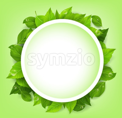 Spring Green Vector Leaves Background Stock Vector