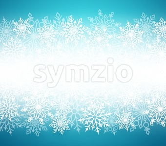 Winter Snow Vector Background with White Snow Flakes Stock Vector