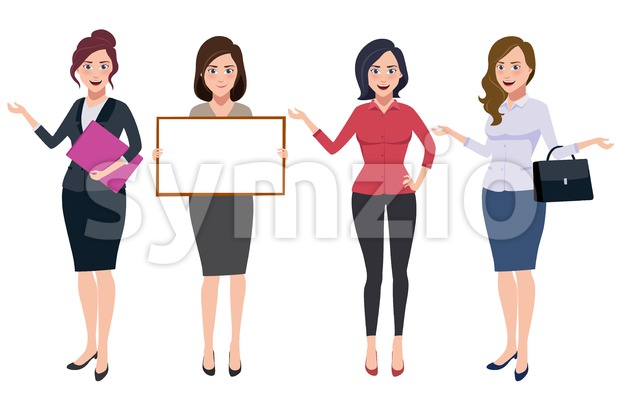 Businesswoman Characters Vector Set Stock Vector