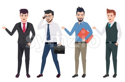 Business Man Vector Characters Set Stock Vector