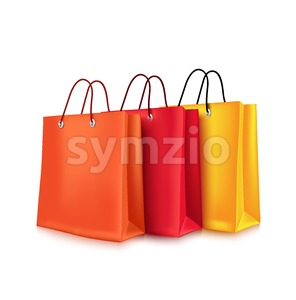 Vector Realistic Colorful Empty Shopping Bags Stock Vector
