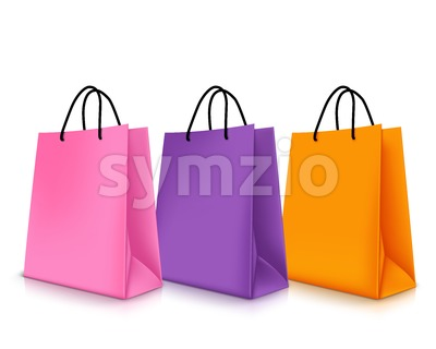 Vector Colorful Empty Shopping Bags Stock Vector