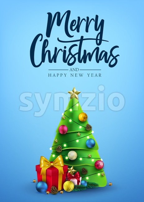 Christmas Poster Decorative Design Stock Photo
