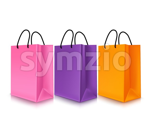 Set of Empty Shopping Bags Vector Illustration Stock Vector