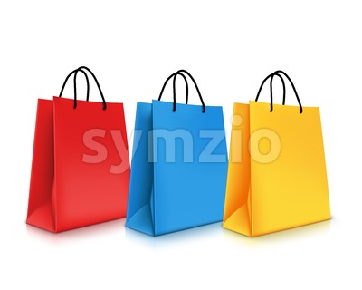 Set of Shopping Bags Vector Illustration Stock Vector