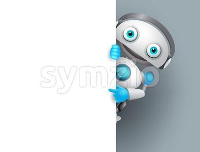 White Robot Vector Character Stock Vector