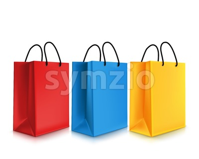 Empty Shopping Bags Vector Illustration Stock Vector
