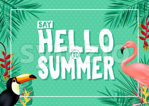 Tropical Summer Vector Banner Design Stock Vector