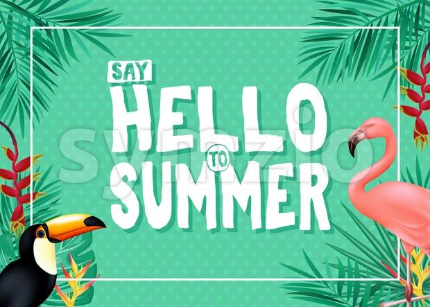 Tropical Summer Vector Banner Design Stock Vector
