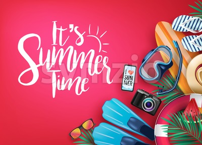 Say Hello to Summer Realistic Vector Banner Stock Vector