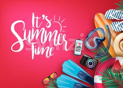 Say Hello to Summer Realistic Vector Banner Stock Vector