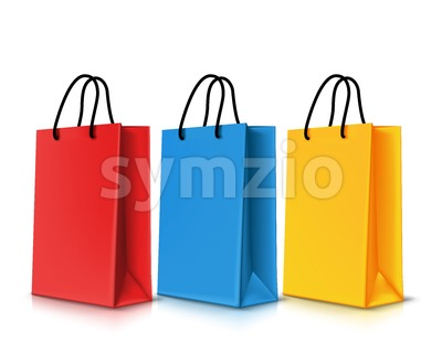 Vector Set of Shopping Bags for Promotion Stock Vector