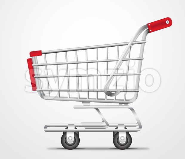 Empty Shopping Cart Trolley Vector Illustration Stock Vector