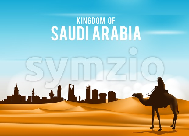 Desert Sands in Middle East Vector Illustration Stock Vector