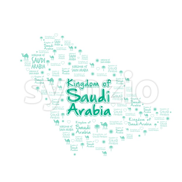 Kingdom of Saudi Arabia Map in Vector Stock Vector