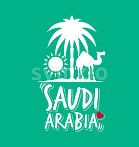 Saudi Arabia Design Vector Illustration Stock Vector