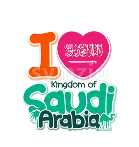 I Love Saudi Arabia Vector Illustration Stock Vector
