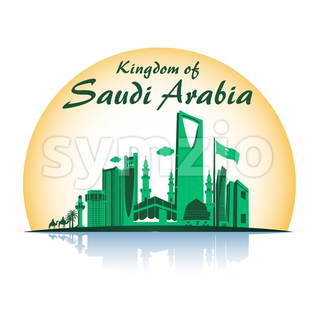 Saudi Arabia Vector of Famous Buildings Stock Vector