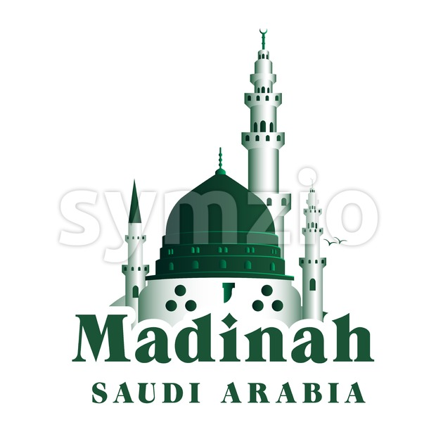 City of Madinah Buildings Vector Illustration in Saudi Arabia. This landmark vector was design with 3D realistic looks and rich in details which is ...