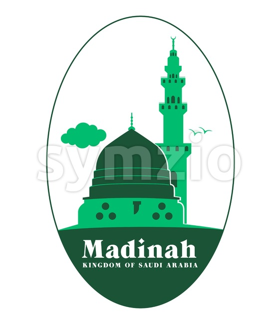 Madinah Illustration in Saudi Arabia Vector Stock Vector