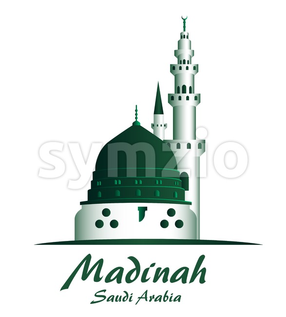 City of Madinah Saudi Arabia Famous Buildings Vector Illustration. This landmark vector was design with 3D realistic looks and rich in details which ...