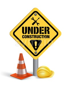 Under Construction Vector Sign in White Stock Vector