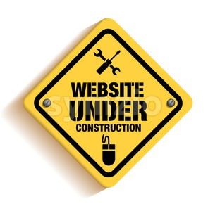 Website Under Construction Sign Vector Design Stock Vector