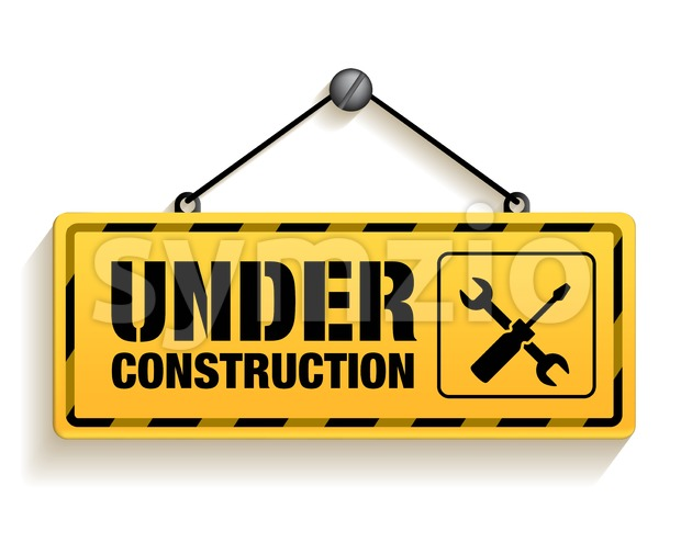 Under Construction Sign Vector illustration Isolated in White Background. This vector signs was designed with 3D realistic looks and rich in details which is ...