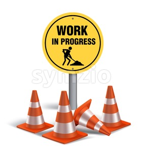Work in Progress Sign Vector Illustration Stock Vector