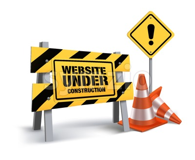 Website Under Construction Vector Sign in White Stock Vector