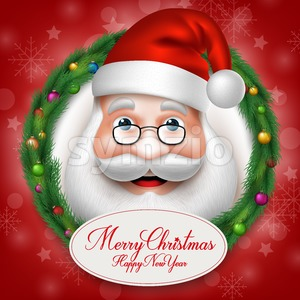 Santa Claus Head Character Vector Illustration Stock Vector