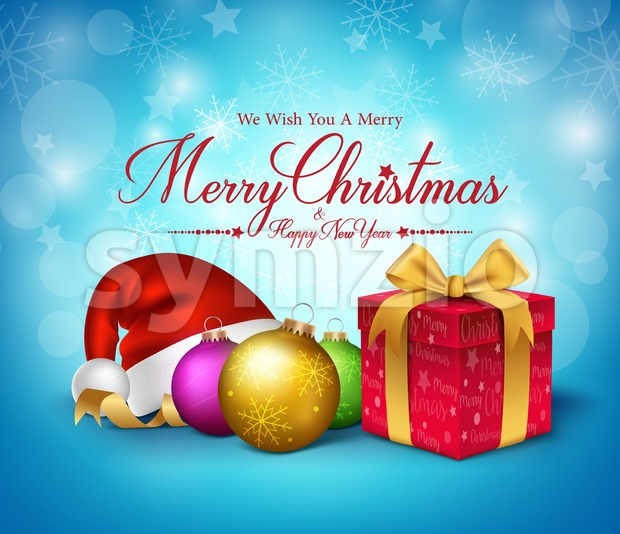 Merry Christmas Greetings Vector Illustration Stock Vector