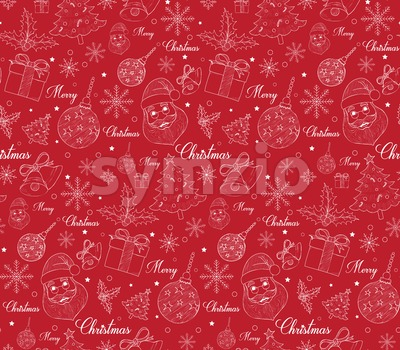 Seamless Christmas Pattern Vector Stock Vector