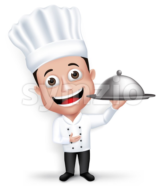 Professional Vector Chef Cook Character Stock Vector
