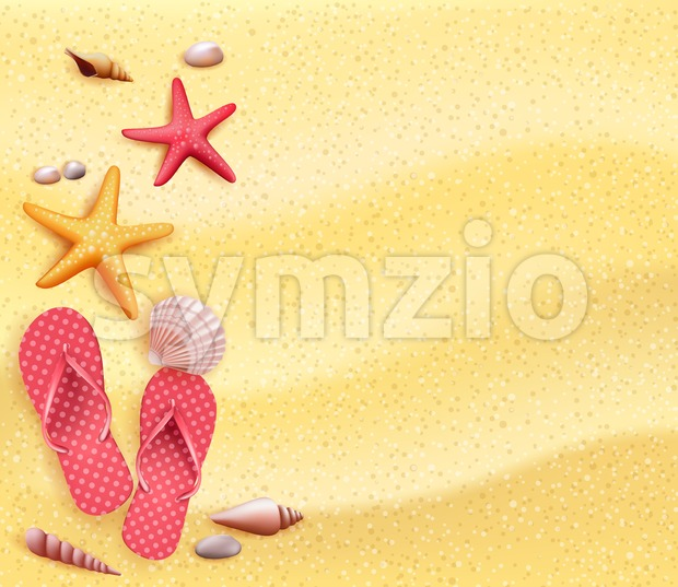 Summer Holidays Blank Sand Background Vector Stock Vector