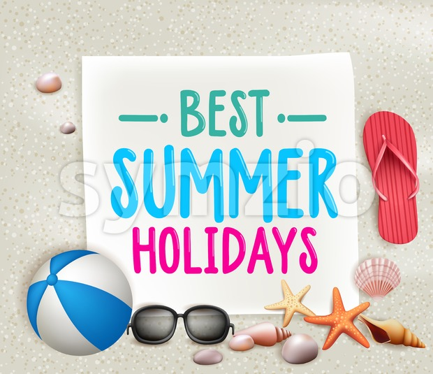 Best Summer Holidays Colorful Vector Stock Vector