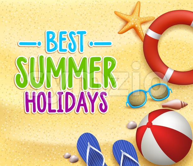 Best Summer Holidays in the Beach Vector Stock Vector