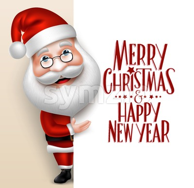 Vector Santa Claus Cartoon Character Stock Vector