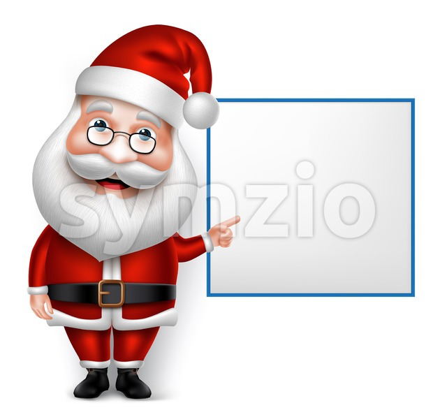 Santa Claus Cartoon Character Vector Stock Vector