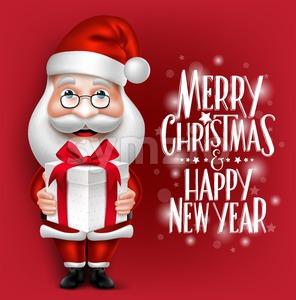 Realistic Santa Claus Vector Character Stock Vector