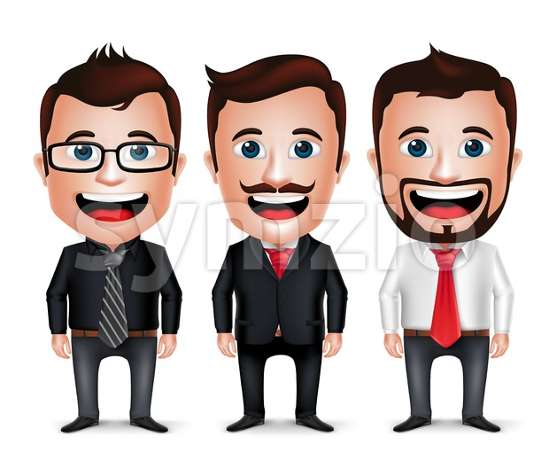 Businessman Vector Character Set Stock Vector