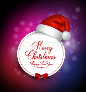 Merry Christmas Greetings Card in Vector Stock Vector